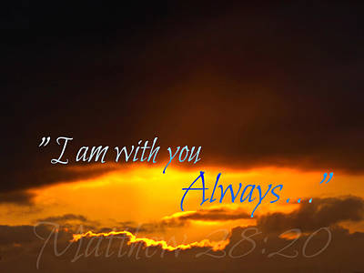 I Am With You Always Art Print by Sharon Soberon