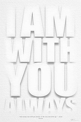 I Am With You Art Print by Shevon Johnson