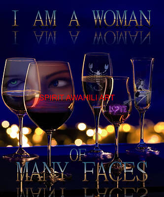 Many Faces Digital Art - I Am Woman by Spirit Awahili