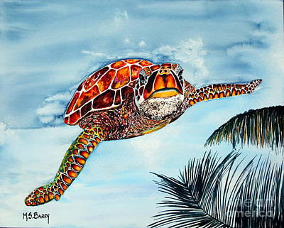 Art Print featuring the painting I Beleive I Can Fly by Maria Barry