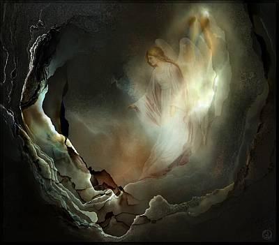 Angel Digital Art - I Believe In Angels  Do You by Gun Legler