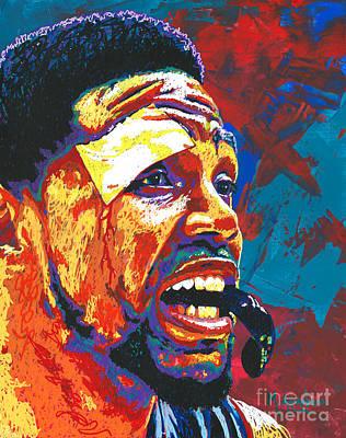 Nba Painting - I Bleed Heat by Maria Arango