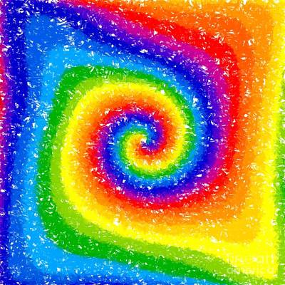 Color Wheel Digital Art - I Can See A Rainbow by Chris Butler