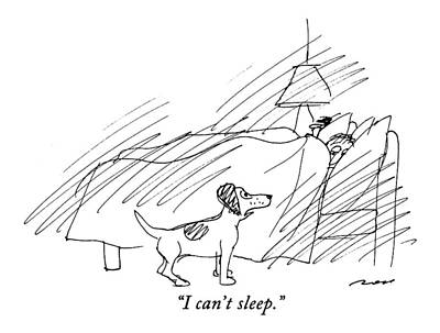Ar Drawing - I Can't Sleep by Al Ross