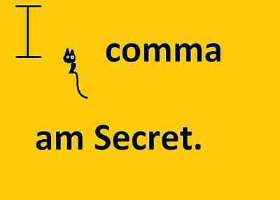 Painting - I Comma Am Secret by Anita Dale Livaditis