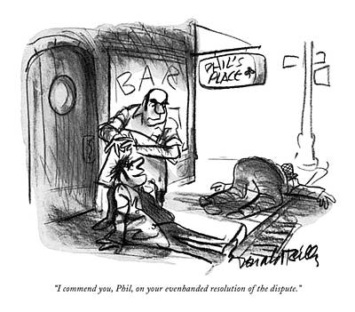 Phils Drawing - I Commend by Donald Reilly