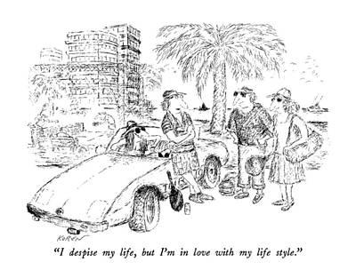 Tennis Drawing - I Despise My Life by Edward Koren