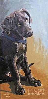 Labrador Retreiver Painting - I Didn't Do Anything by Margaret Sarah Pardy