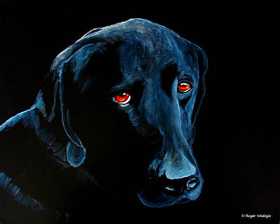 Labrador Retriever Painting - I Didnt Do It by Roger Wedegis