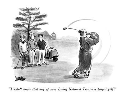 Player Drawing - I Didn't Know That Any Of Your Living National by Warren Miller
