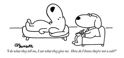 General Drawing - I Do What They Tell by Charles Barsotti