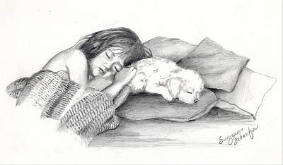 Drawing - I Dont Need A Nap Mom by Suzanne Schaefer