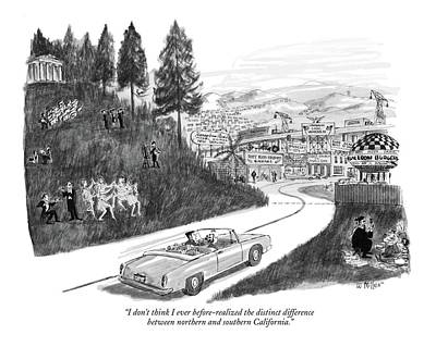 Scene Drawing - I Don't Think I Ever Before-realized The Distinct by Warren Miller