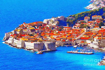 Limited Edition Mixed Media - I Dream Of Dubrovnik  by Aston Pershing