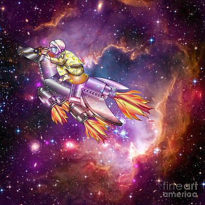 Digital Art - I Dream Of Rockethorse by Laura Brightwood