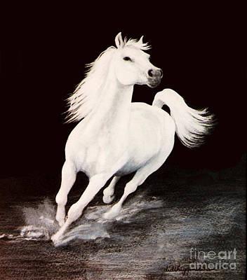 I Dreamed Him White Art Print by DiDi Higginbotham