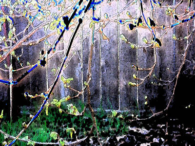 Early Spring Digital Art - I Dreamed Of The Backyard by Eric Forster