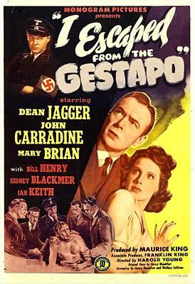 I Escaped From The Gestapo, Aka No Art Print by Everett