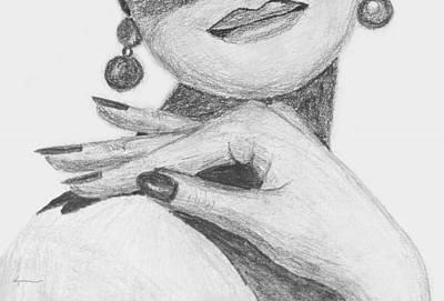 Drawing - I Feel Pretty by Kume Bryant