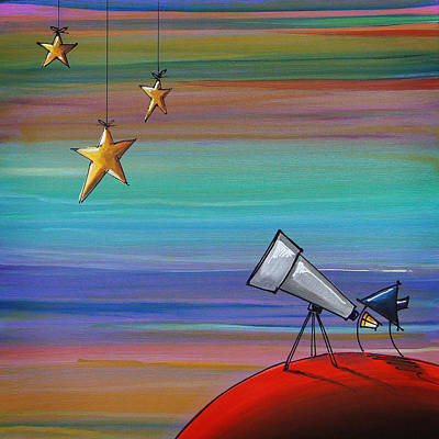 Astronomy Painting - I Finally Found You by Cindy Thornton
