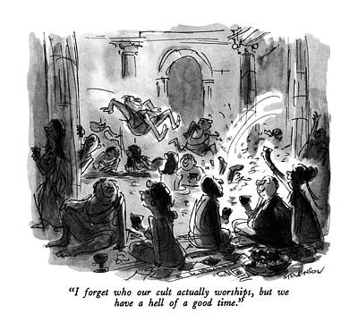 Ancient Rome Drawing - I Forget Who Our Cult Actually Worships by James Stevenson