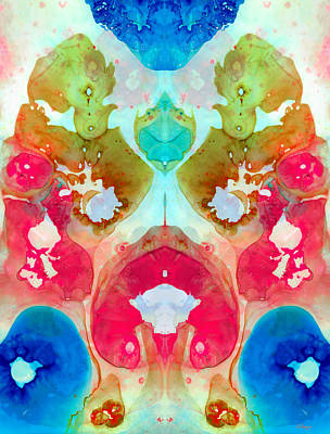 Kaleidoscope Painting - I Found Your Dog - Art By Sharon Cummings by Sharon Cummings