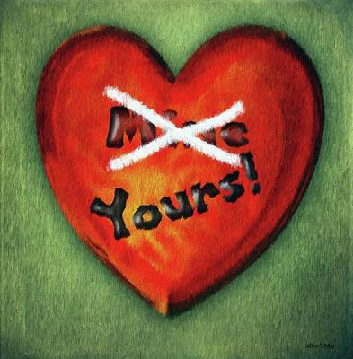 Painting - I Gave You My Heart by Jeff Kolker