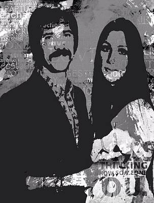 Bono Digital Art - I Got You Babe by Trisha Buchanan