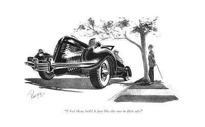 Sport Car Drawing - I Had Them Build It Just Like The One by John Ruge