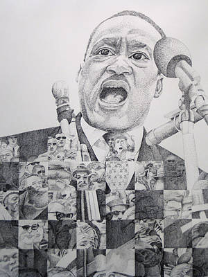 Civil Rights Drawing - I Have A Dream Martin Luther King by Joshua Morton