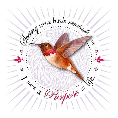 Rufous Wall Art - Painting - I Have A Purpose In Life by Amy Kirkpatrick