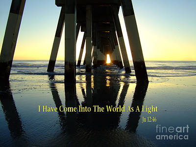 Photograph - John 12 - I Have Come Into The World As A Light by Bob Sample
