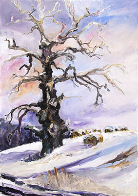 Painting - I Have Got Stories To Tell Old Oak Tree In Mecklenburg Germany by Barbara Pommerenke