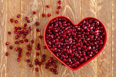 Heart Healthy Photograph - I Heart Pomegranates by Teri Virbickis