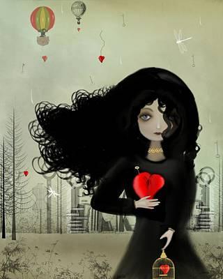 I Heart U Art Print by Charlene Murray Zatloukal