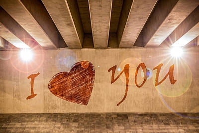 I Heart You Art Print by Semmick Photo