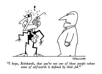 I Hope, Reinhardt, That You're Not One Of Those Art Print by Charles Barsotti