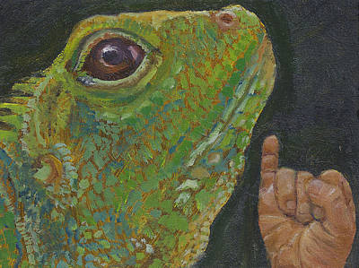 Painting - I Is For Iguana by Jessmyne Stephenson