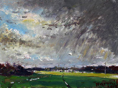 Cloudy Painting - I Just Beat The Rain by Ylli Haruni