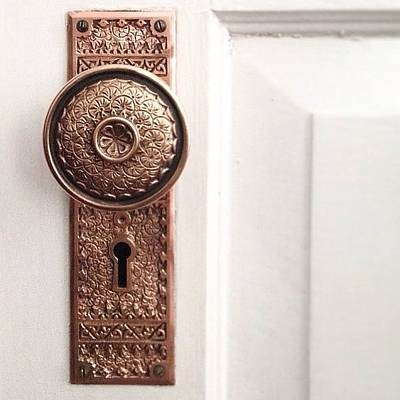 Decorative Photograph - I Just Love These Old Door Knobs! by Kim Schumacher
