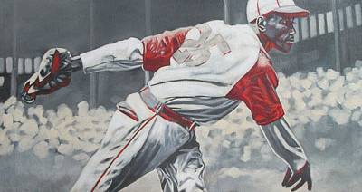 Satchel Paige Painting - I Just Played Baseball by Paul Smutylo