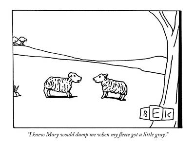 Children Stories Drawing - I Knew Mary Would Dump Me When My Fleece Got by Bruce Eric Kaplan