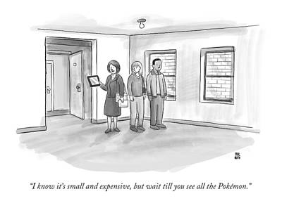 Pokemon Drawing - I Know It's Small And Expensive by Paul Noth