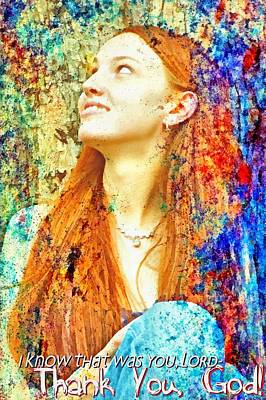 Smiling Jesus Digital Art - I Know That Was You Lord by Michelle Greene Wheeler