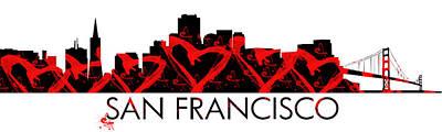 Digital Art - I Left My Heart In San Francisco by Paulette B Wright