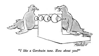 How Are You Drawing - I Like A Gershwin Tune.  How About You? by Mischa Richter