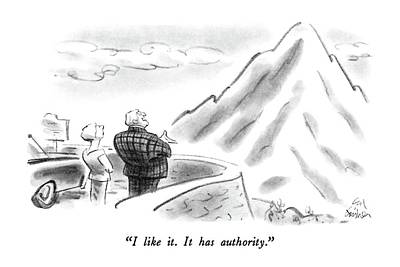 Authority Drawing - I Like It.  It Has Authority by Ed Fisher