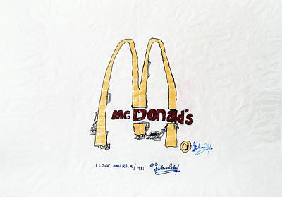 Mcdonalds Mixed Media - I Love America by Dietmar Scherf