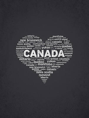 I Love Canada Art Print by Aged Pixel