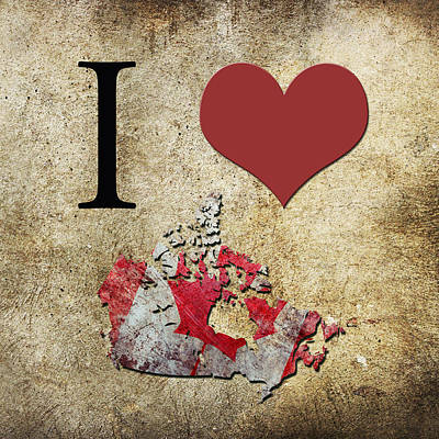 I Love Canada Digital Art - I Love Canada by Gina Dsgn